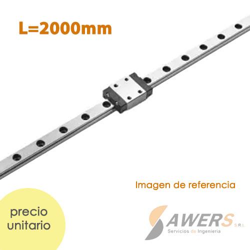 Guia Lineal HGR20 2000mm y carro HGW20CC