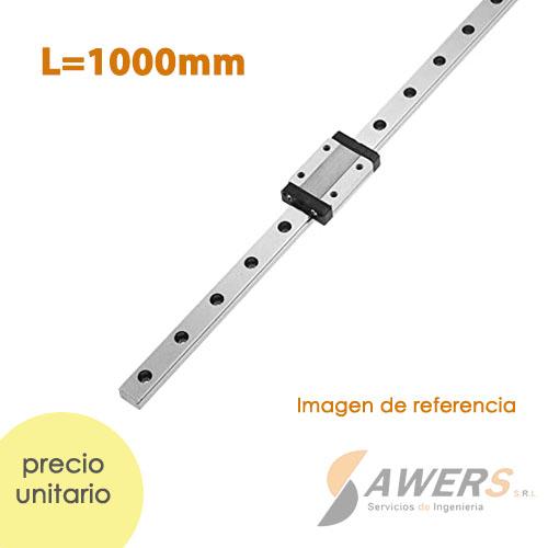 Guia Lineal HGR20 1000mm y carro HGW20CC