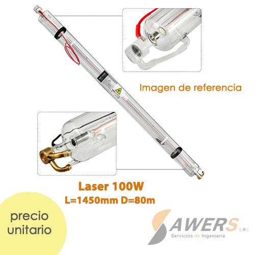 Tubo Laser CO2 100W L=1450mm D=80m