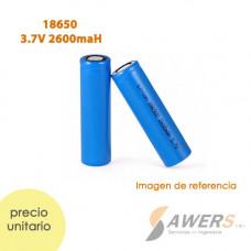 Bateria Li-ion 18650 3.7V 2600mAh cabeza plana