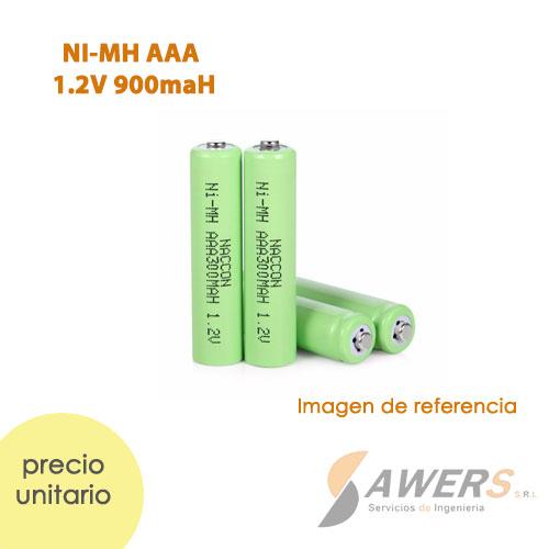 Pila recargable NI-MH AAA 1.2V 900mAh