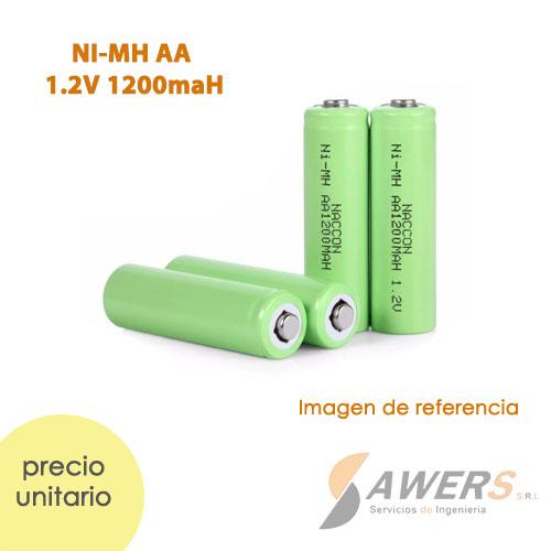 Pila recargable NI-MH AA 1.2V 1200mAh