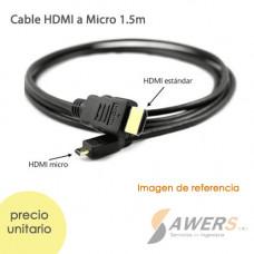 Cable Micro HDMI a HDMI 1.5m