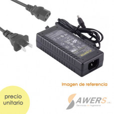 Cargador Universal 12V-6A salida jack (enchufe tipo US)