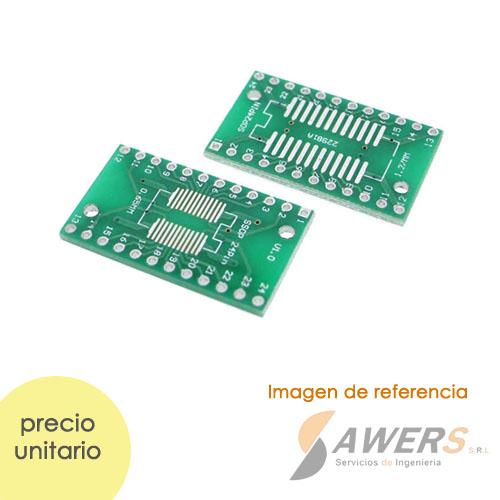Zocalo PCB DIP24 a SOP24/SSOP24