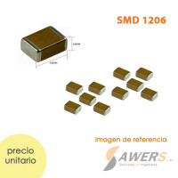 Capacitores SMD 1206 1pF a 10uF 16V