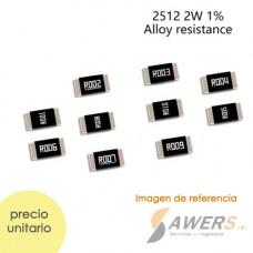 Resistencia SMD 2512 0.001-0.1OHM 2W 1%