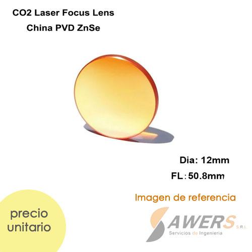 Lente de Enfoque ZnSe DIA.12mm - FL50.8mm