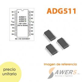 ADG511 LC2MOS conmutador 4CH SPST de Precision 5V/3V SOP16