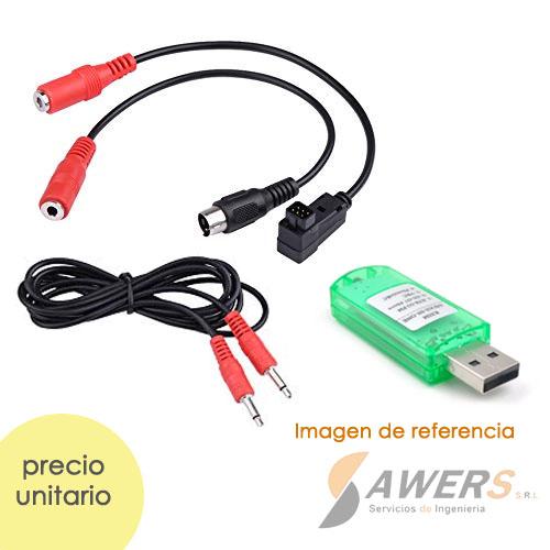 kit de cabes de Simulacion de Vuelo 8 en1 RC-USB