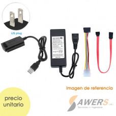 Adaptador USB 2.0 a IDE/SATA para discos HDD de 2.5 y 3.5inch