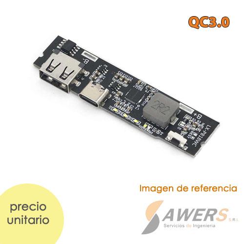 Modulo de Carga QC3.0 PowerBank Li-ion 5V-3A 18650